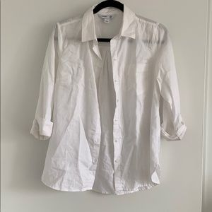 White button down loose fitted